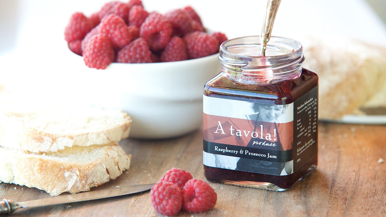 Raspeberry and prosecco jam, Pizzin Wines, High Country, Victoria, Australia