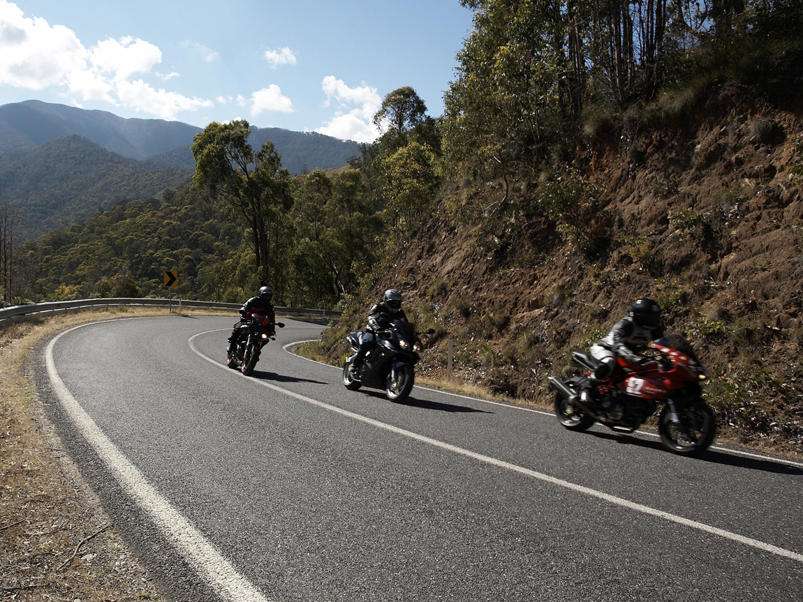 Motorcycle touring, Falls Creek, High Country, Victoria, Australia