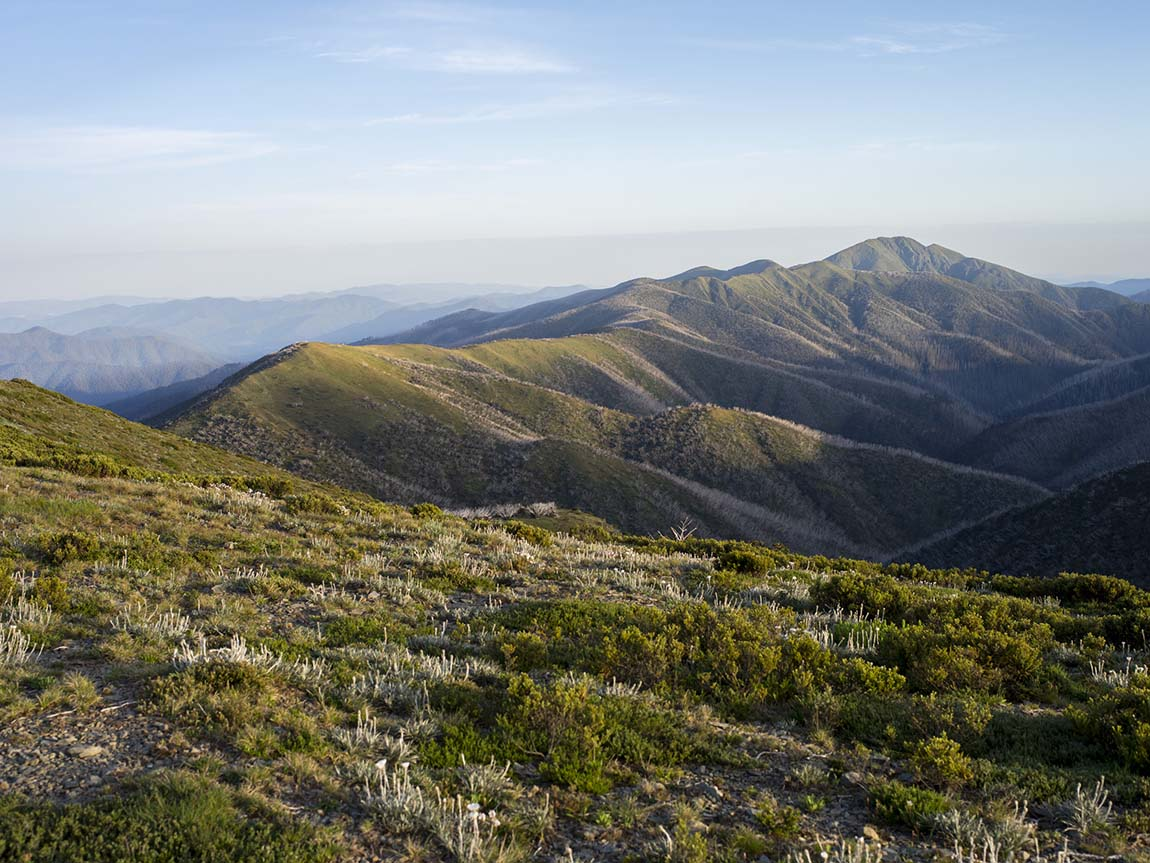 View from Falls Creek to Mount Hotham, High Country, Victoria, Australia