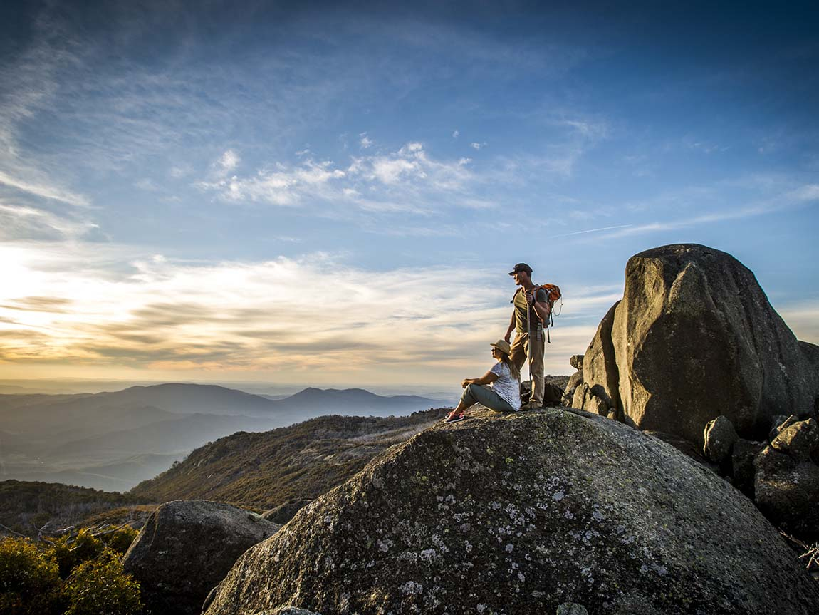 Couple on Mount Buffalo, High Country, Victoria, Australia