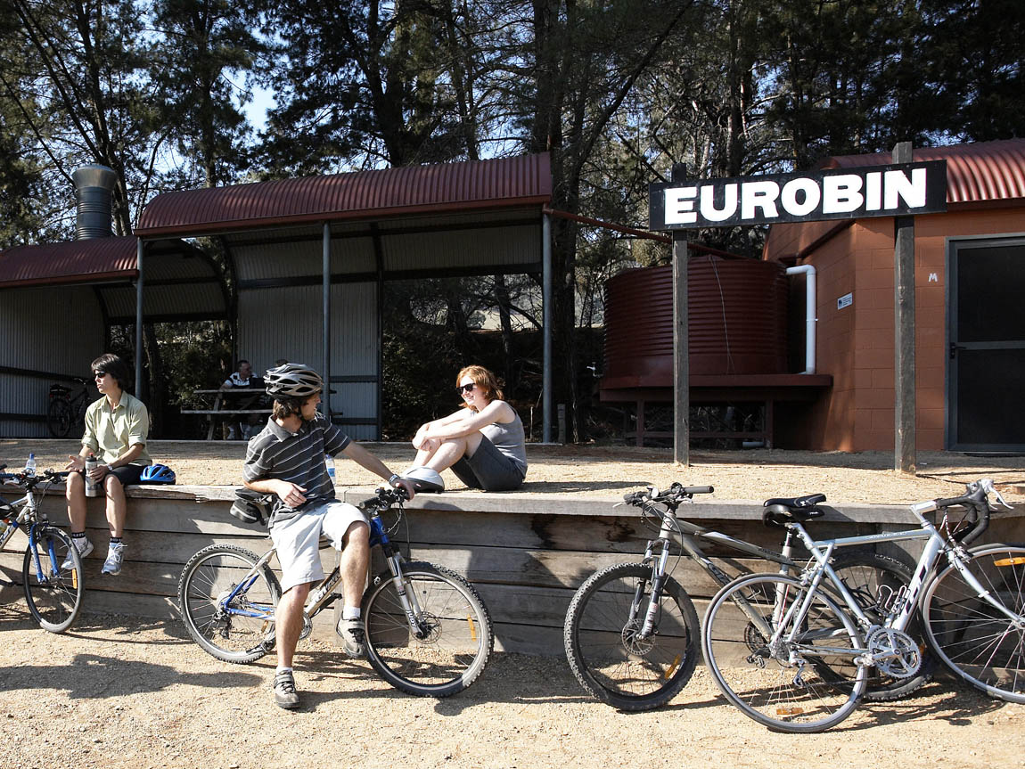 Eurobin Station, Murray to Mountains Rail Trail, High Country, Victoria, Australia