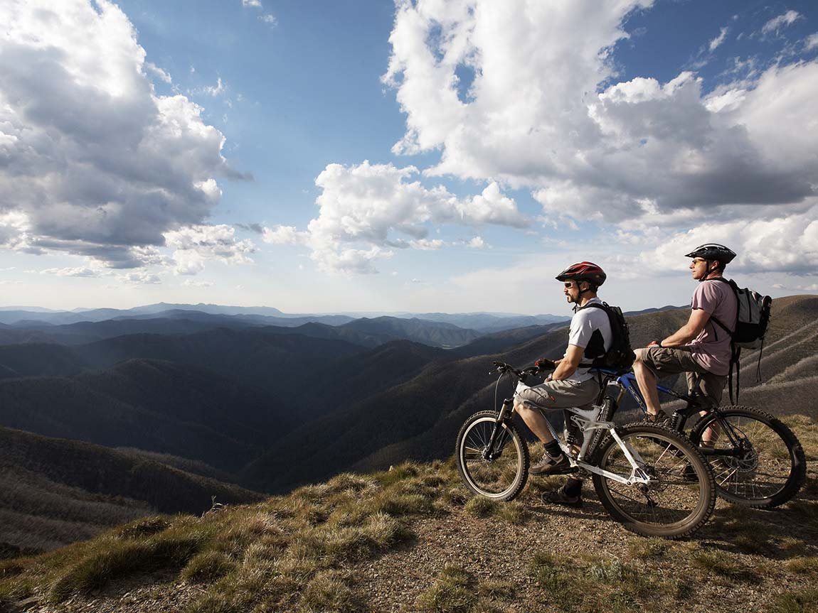 Mountain biking at Mount Hotham, High Country, Victoria, Australia