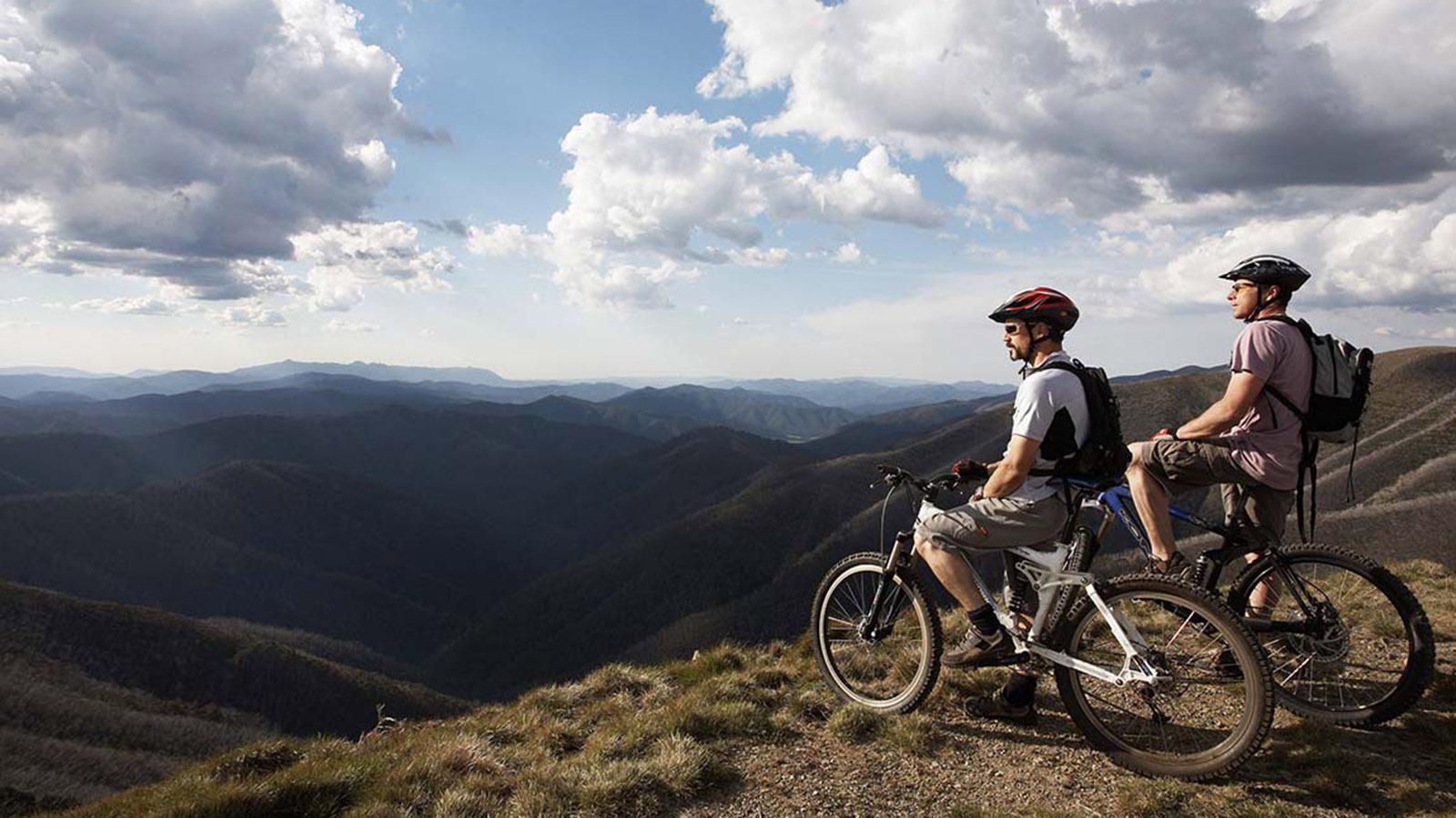 Mountain biking at Mount Hotham, High Country, Victoria, Australia