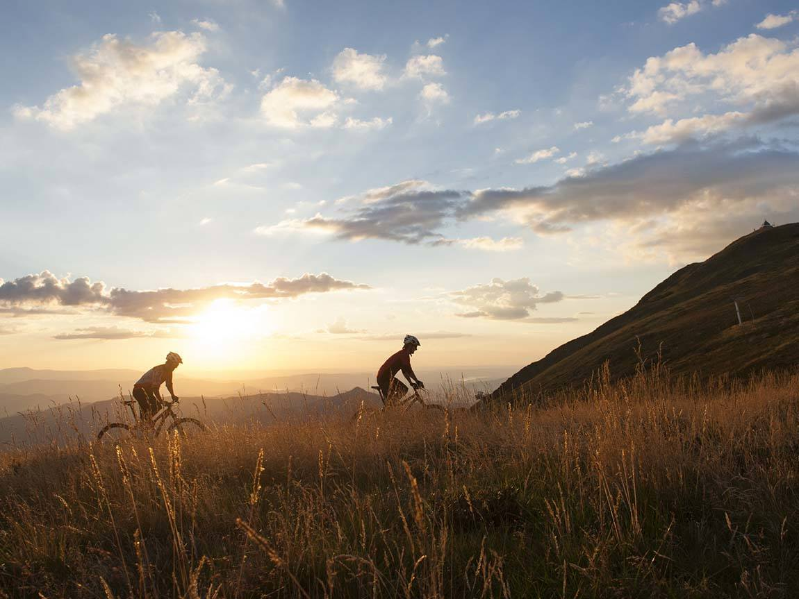 Mountain biking, High Country, Victoria, Australia