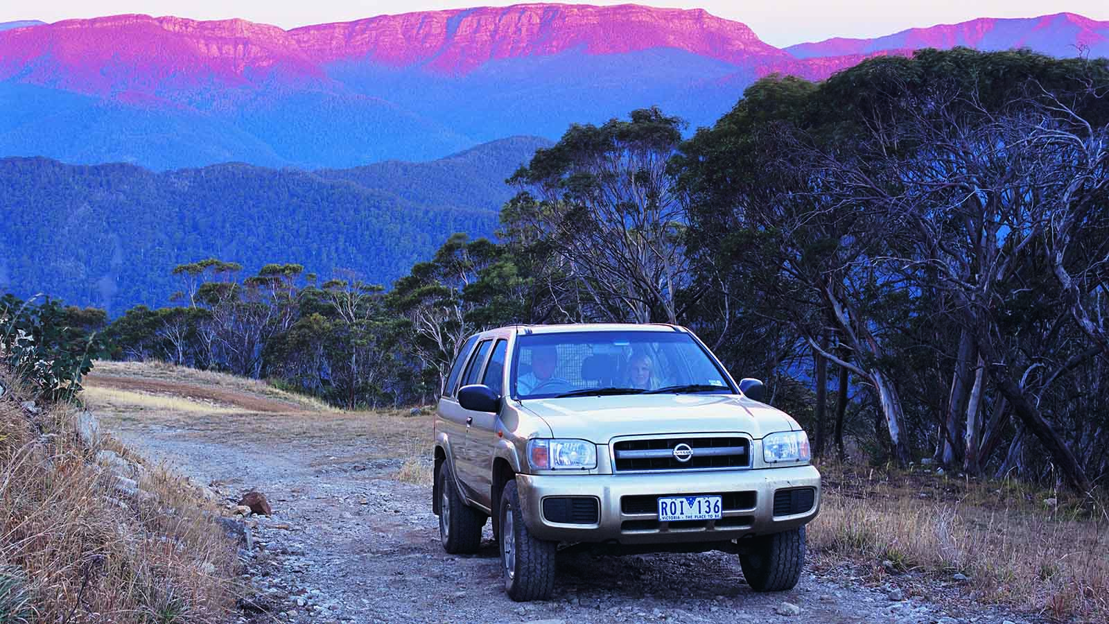 Four wheel driving at Mt Buller, High Country, Victoria, Australia