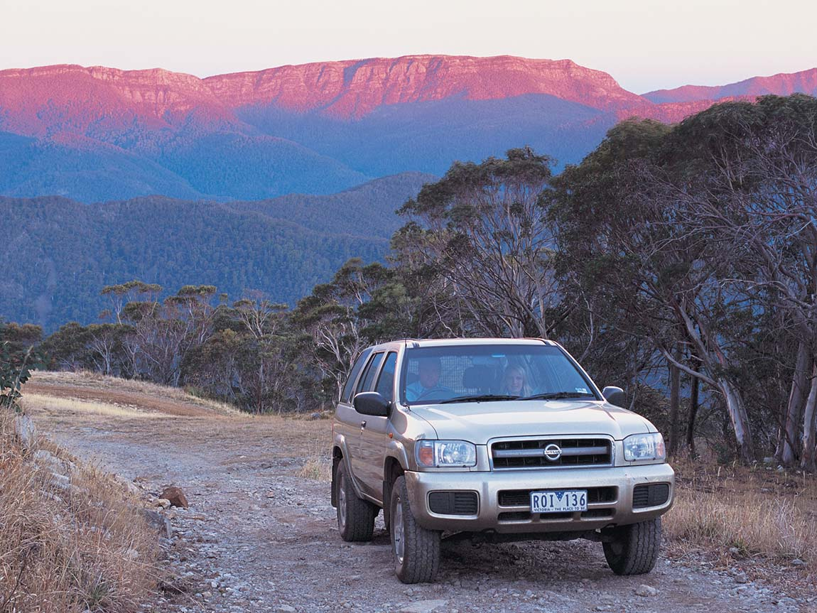 Four-wheel driving at Mt Buller, High Country, Victoria, Australia