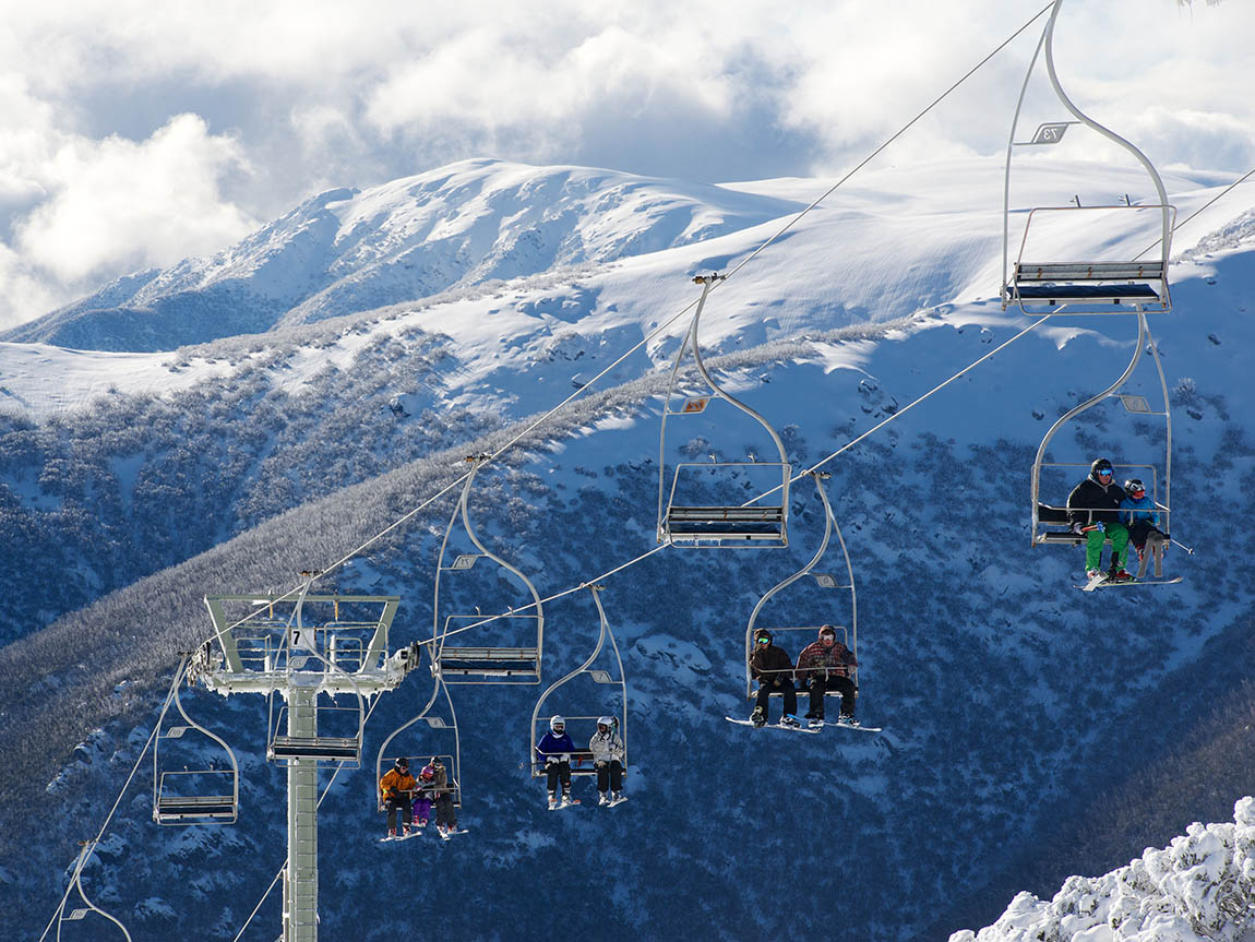 Falls Creek Eagle Chairlift, High Country, Victoria, Australia