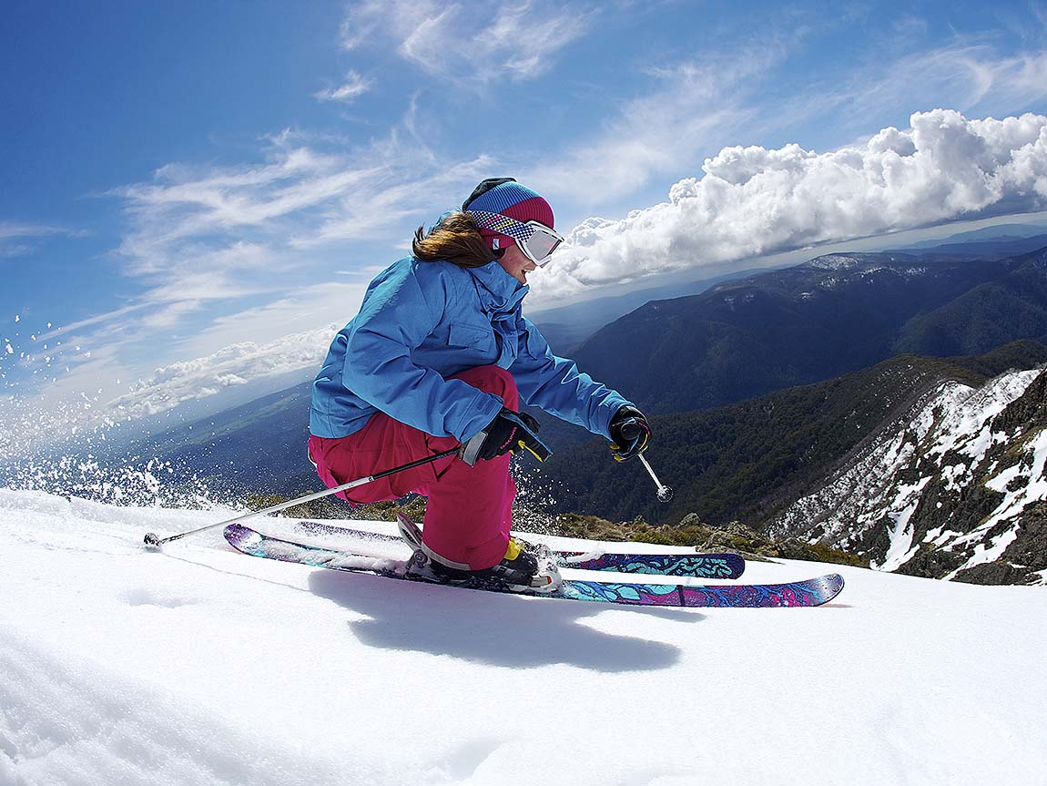 Skiing at Mount Buller, High Country, Victoria, Australia. Image: Tony Harrington, courtesy Mt Buller