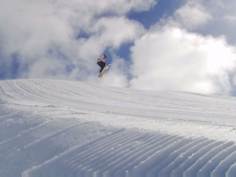 Snowboarding, High Country, Victoria, Australia