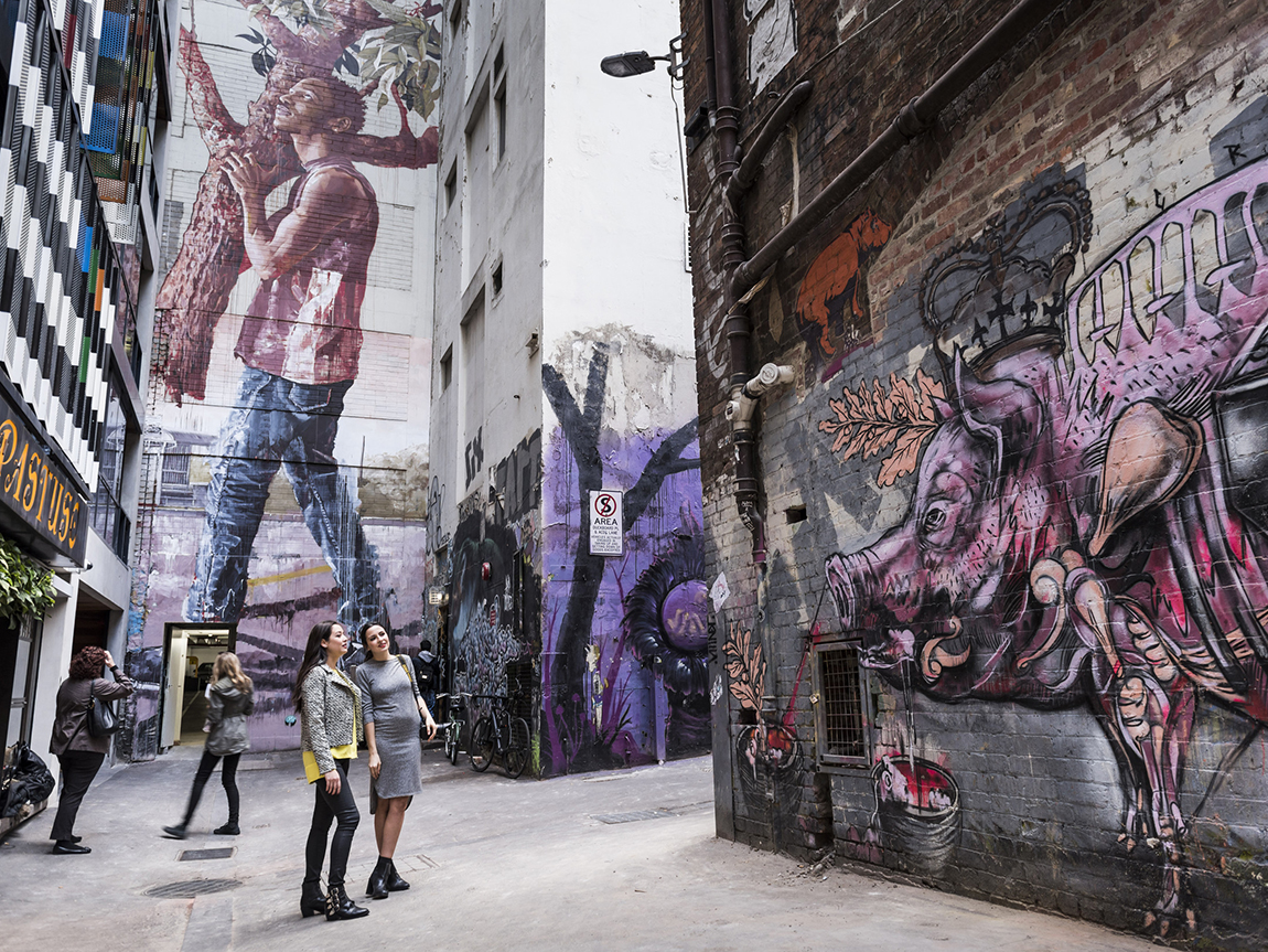 ACDC Lane, Melbourne, Victoria. Photographer Robert Blackburn.