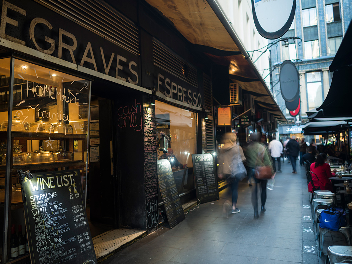 Degraves Street, Melbourne, Victoria, Australia. Photo: Robert Blackburn