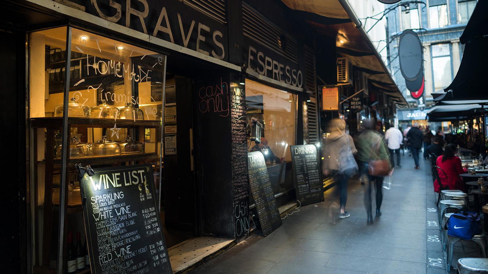 Degraves Street, Destination, Melbourne, Victoria, Australia | 1600 x 900 jpeg 514kB