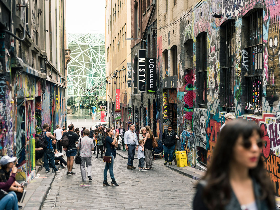 Hosier Lane, Melbourne, Victoria, Australia. Photo: Robert Blackburn