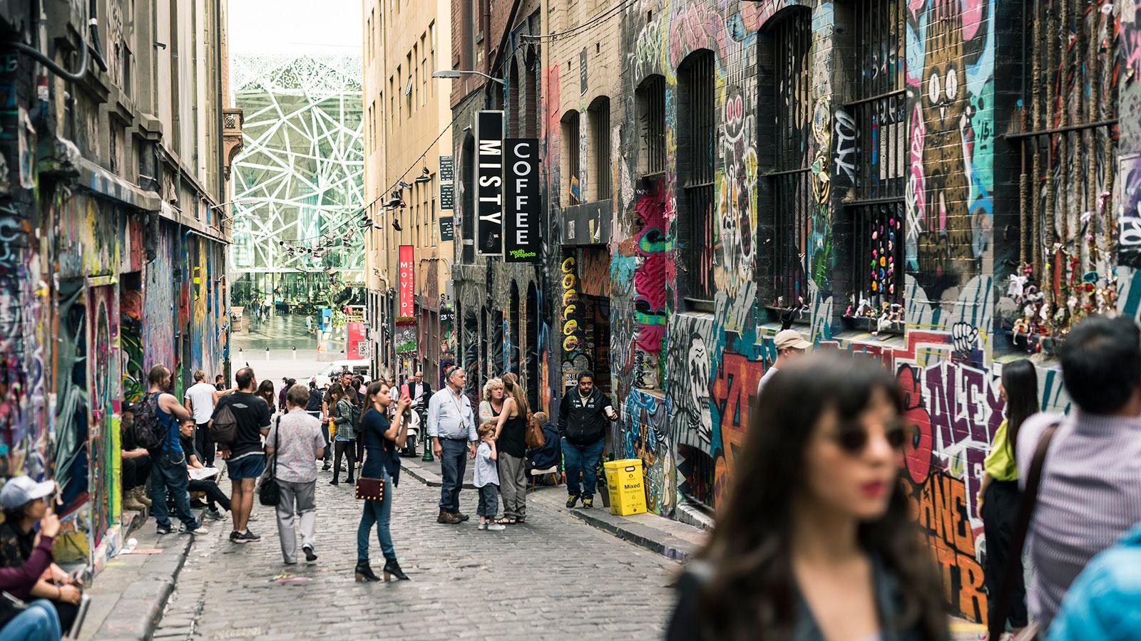 Hosier Lane, Melbourne, Victoria, Australia. Photo: Robert Blackburn