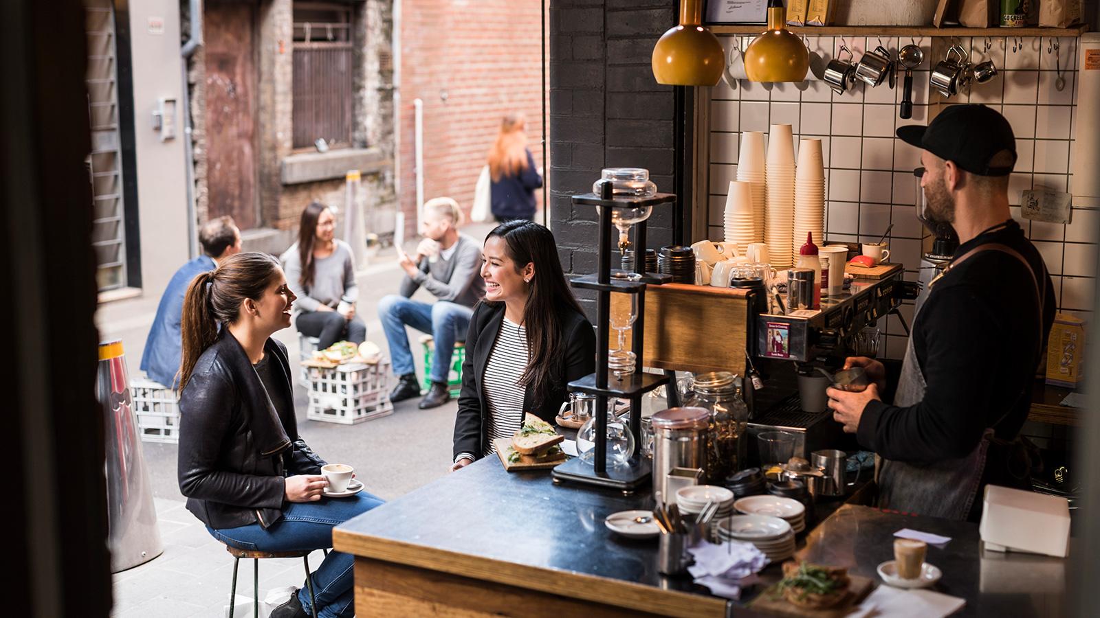 Little Mule Cafe, Melbourne, Victoria, Australia. Photo: Robert Blackburn