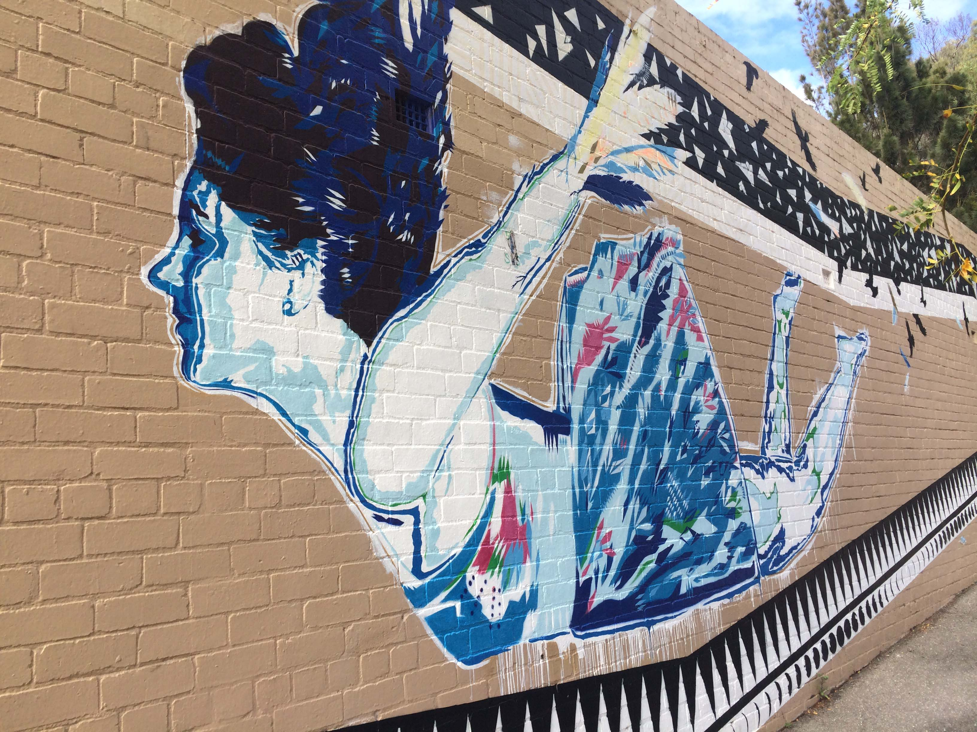 Mural by Vexta, Meat Market, North Melbourne, Victoria, Australia