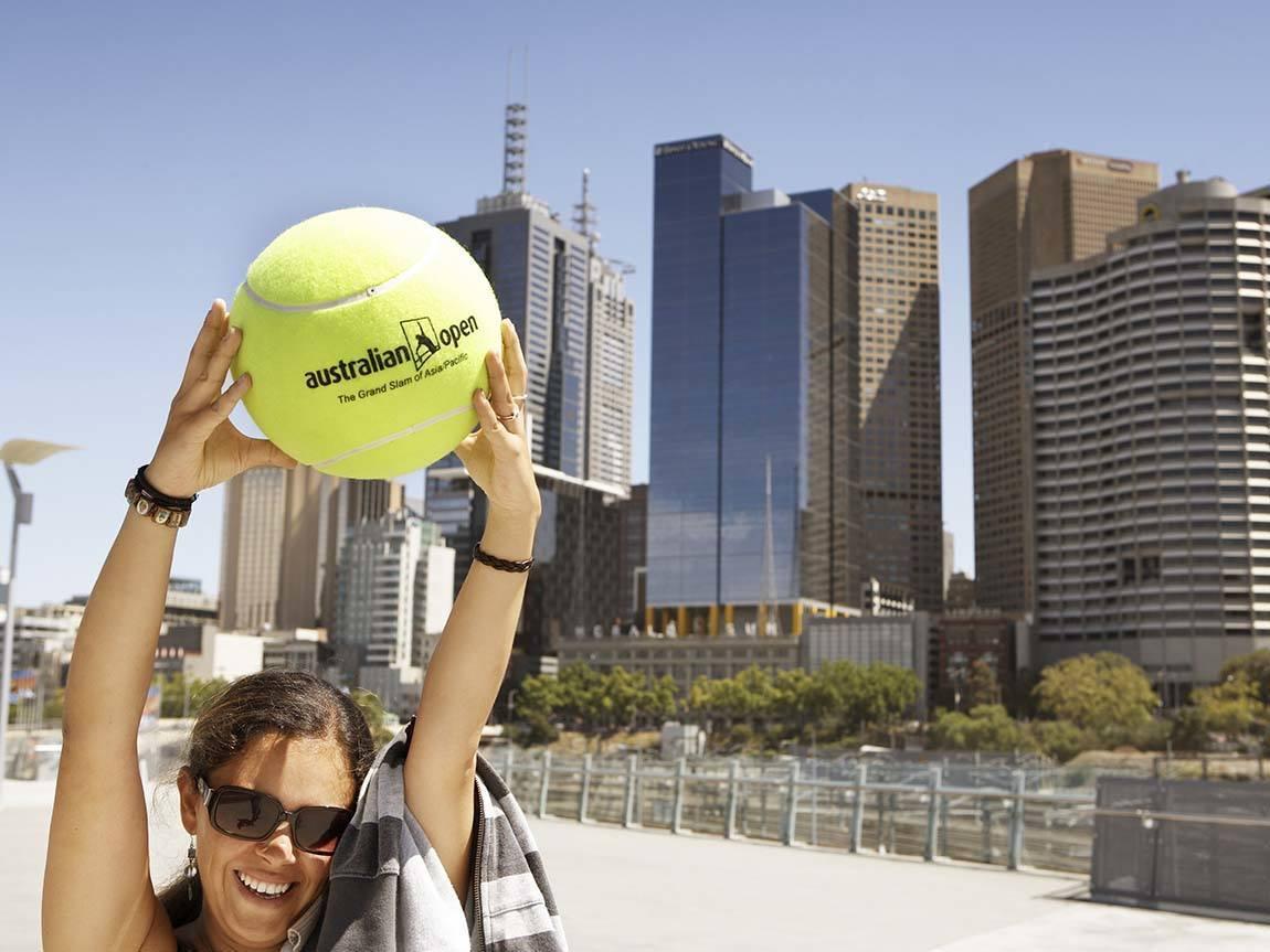 Australian Open fan, Melbourne, Victoria, Australia