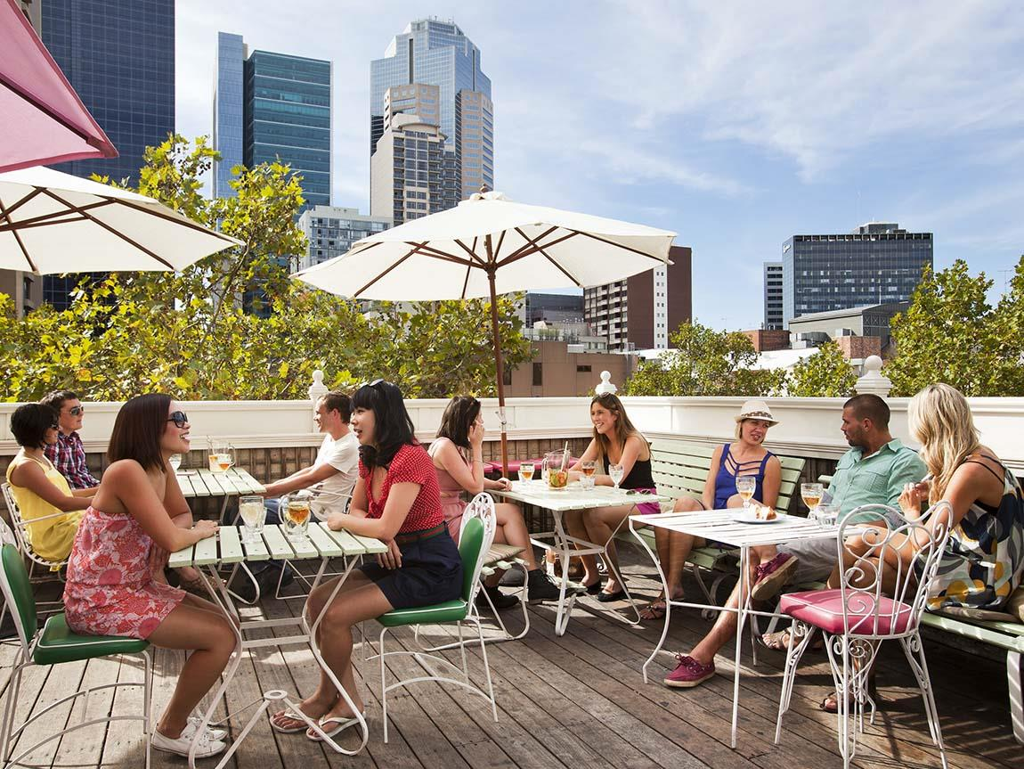 Rooftop at Madame Brussels, Melbourne, Victoria, Australia