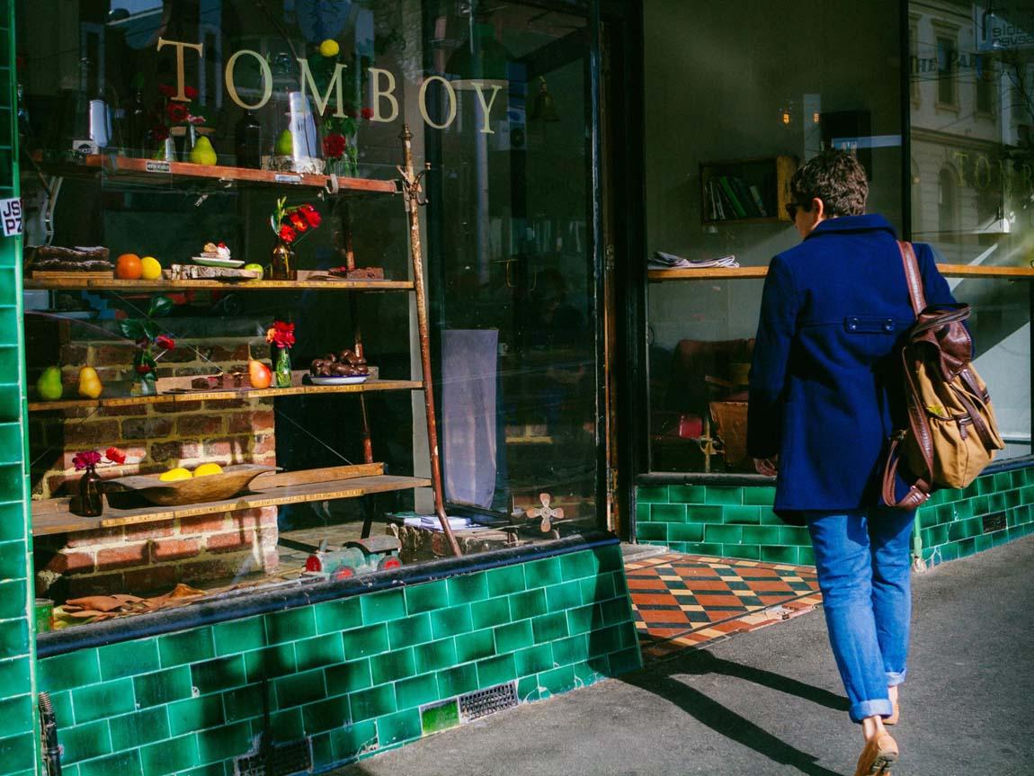 Tomboy Cafe, Collingwood, Melbourne, Victoria, Australia. Photo: Robert Seba