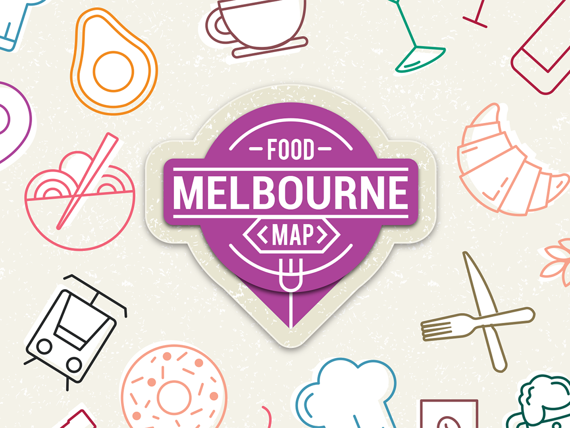 Melbourne food map