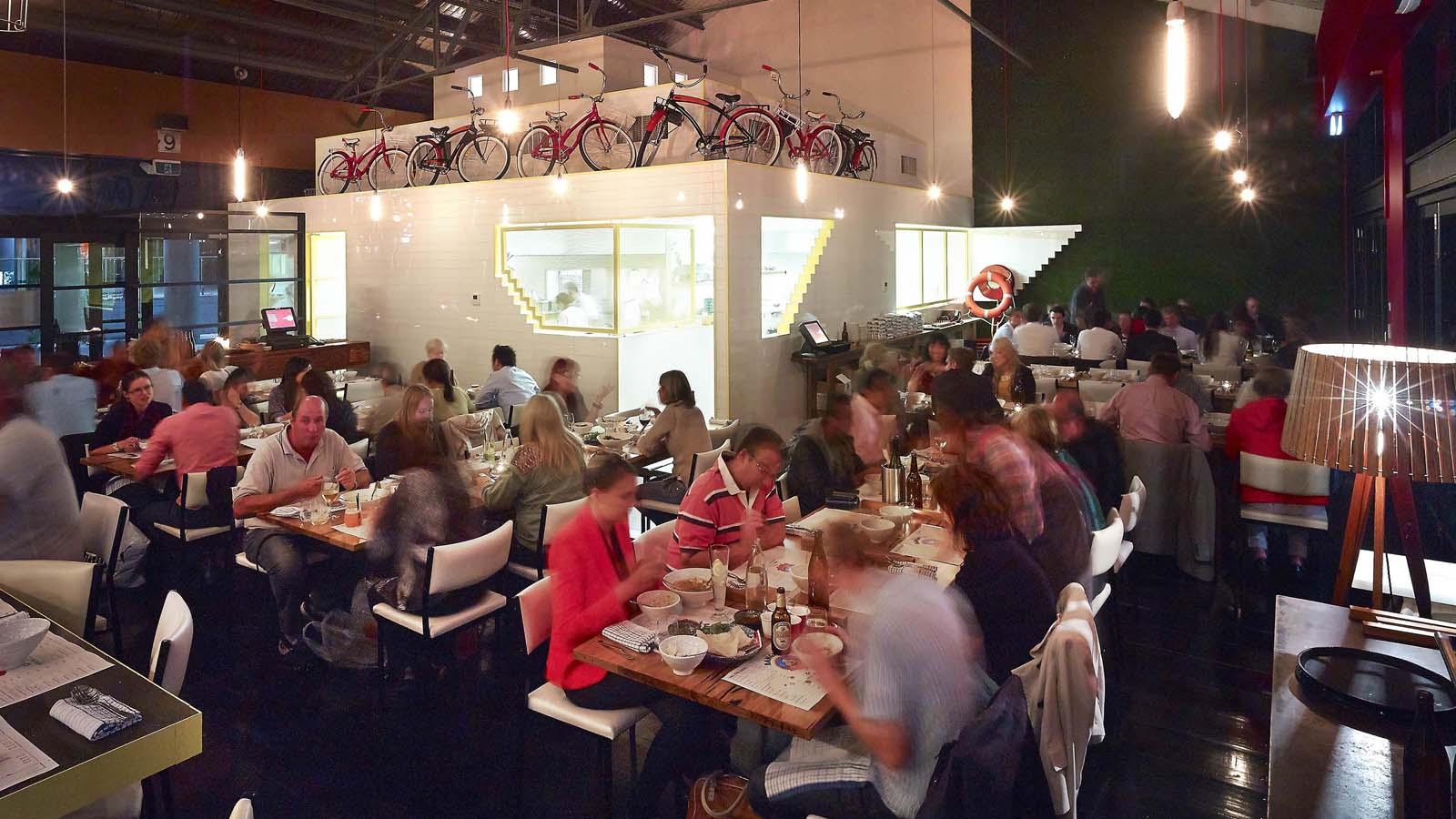 BangPop restaurant interior, Melbourne, Victoria, Australia