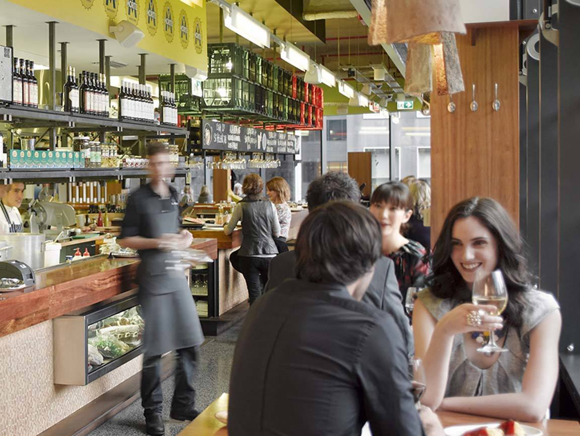 Dining at MoVida Aquis, Melbourne, Victoria, Australia
