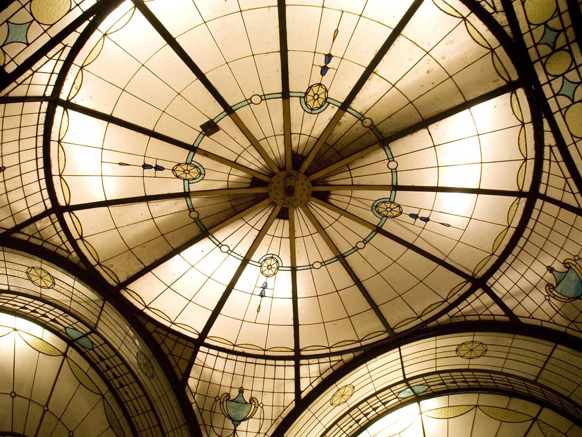 Glass roof of Cathedral Arcade, Melbourne, Victoria, Australia