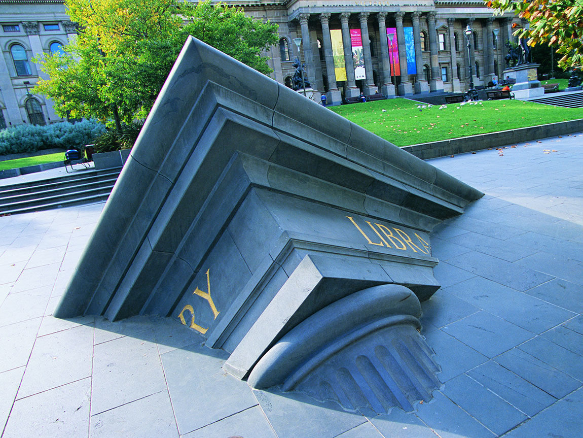 Architectural Fragment, near State Library of Victoria. Artist: Mr Spronks. Photo: Sharma Rose Photography.