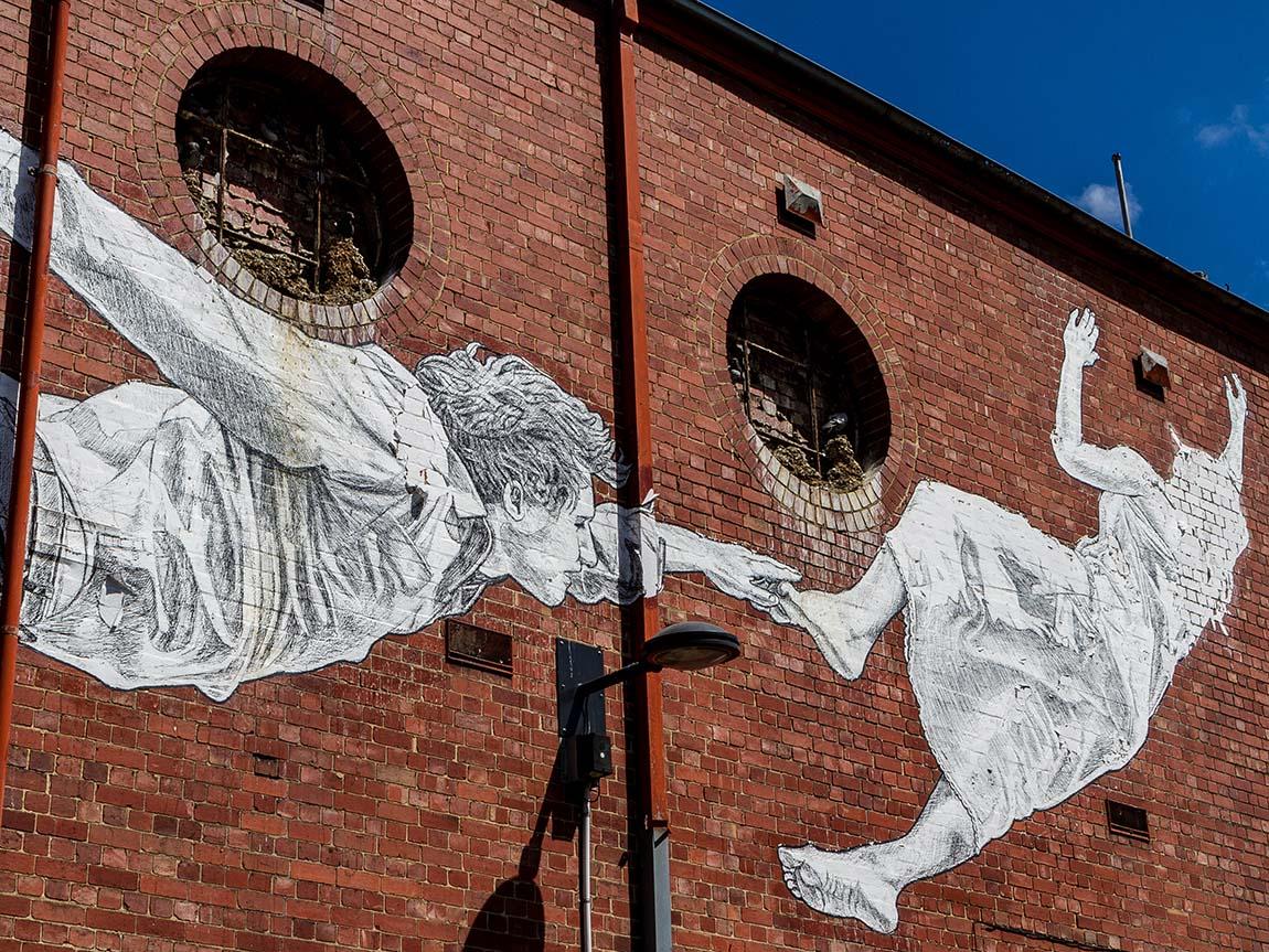 Street art by Baby Guerrilla, Footscray, Melbourne, Victoria, Australia