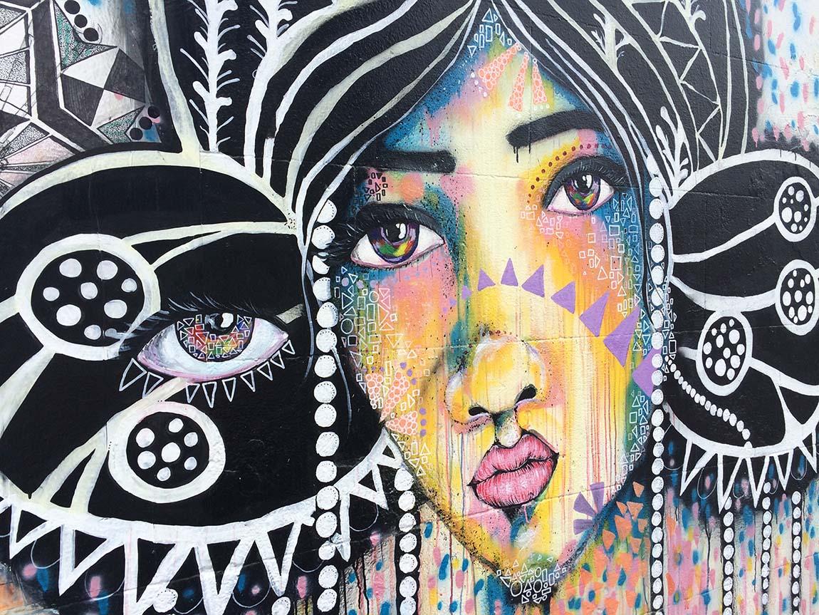 Street art by Mimby Jones Robinson, Collingwood, Melbourne, Victoria, Australia