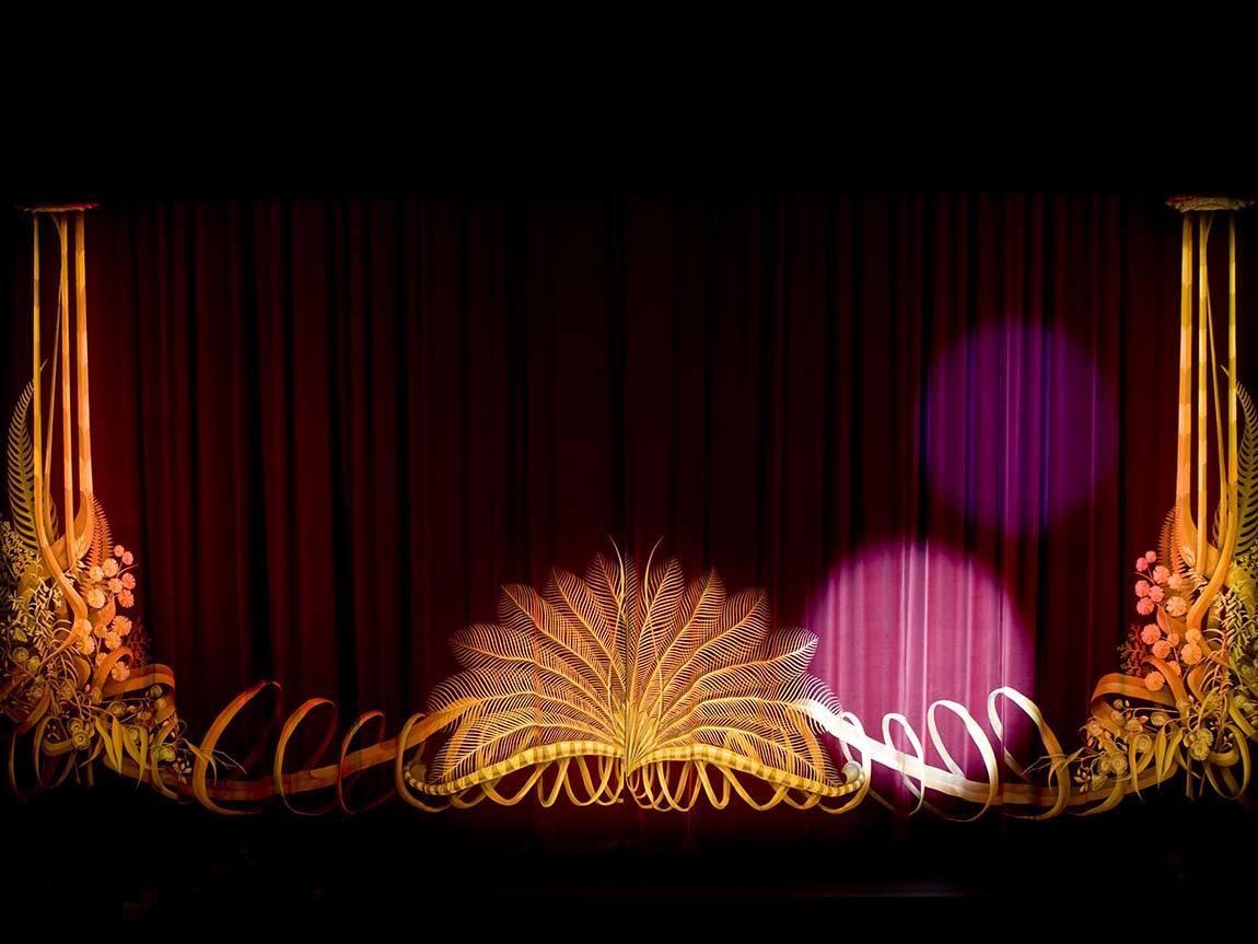 State Theatre curtain, Arts Centre Melbourne, Melbourne, Victoria, Australia