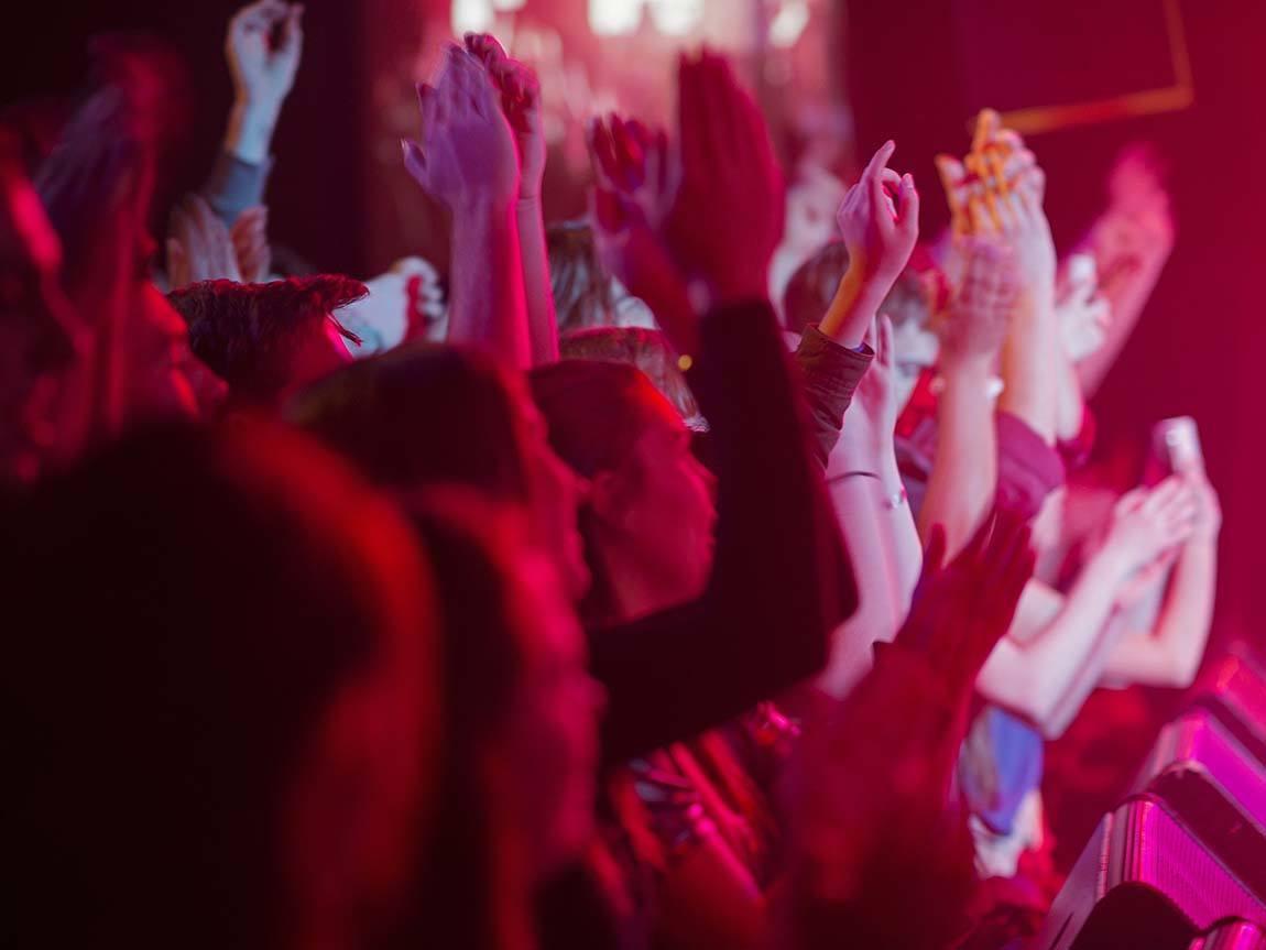 Crowd at the Corner Hotel, Richmond, Melbourne, Victoria, Australia