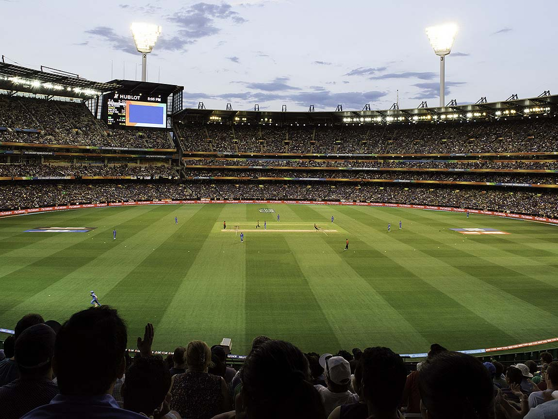 Cricket at the Melbourne Cricket Ground, Melbourne, Victoria, Australia