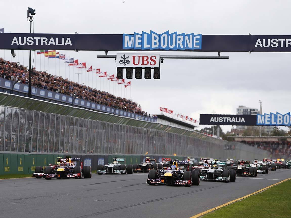 Motor racing, Melbourne, Victoria, Australia