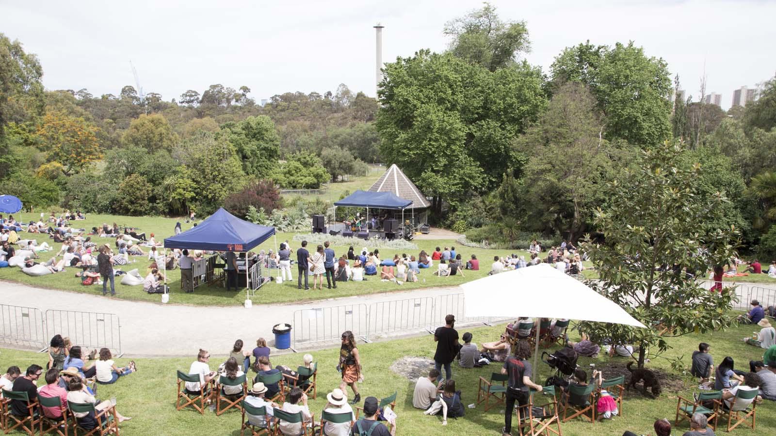 Abbotsford Convent open spaces, Abbotsford, Melbourne, Victoria, Australia