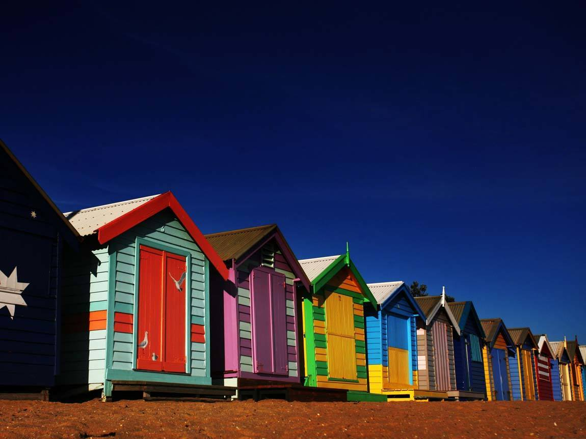 Brighton Bathing Boxes, Brighton, Melbourne, Victoria, Australia