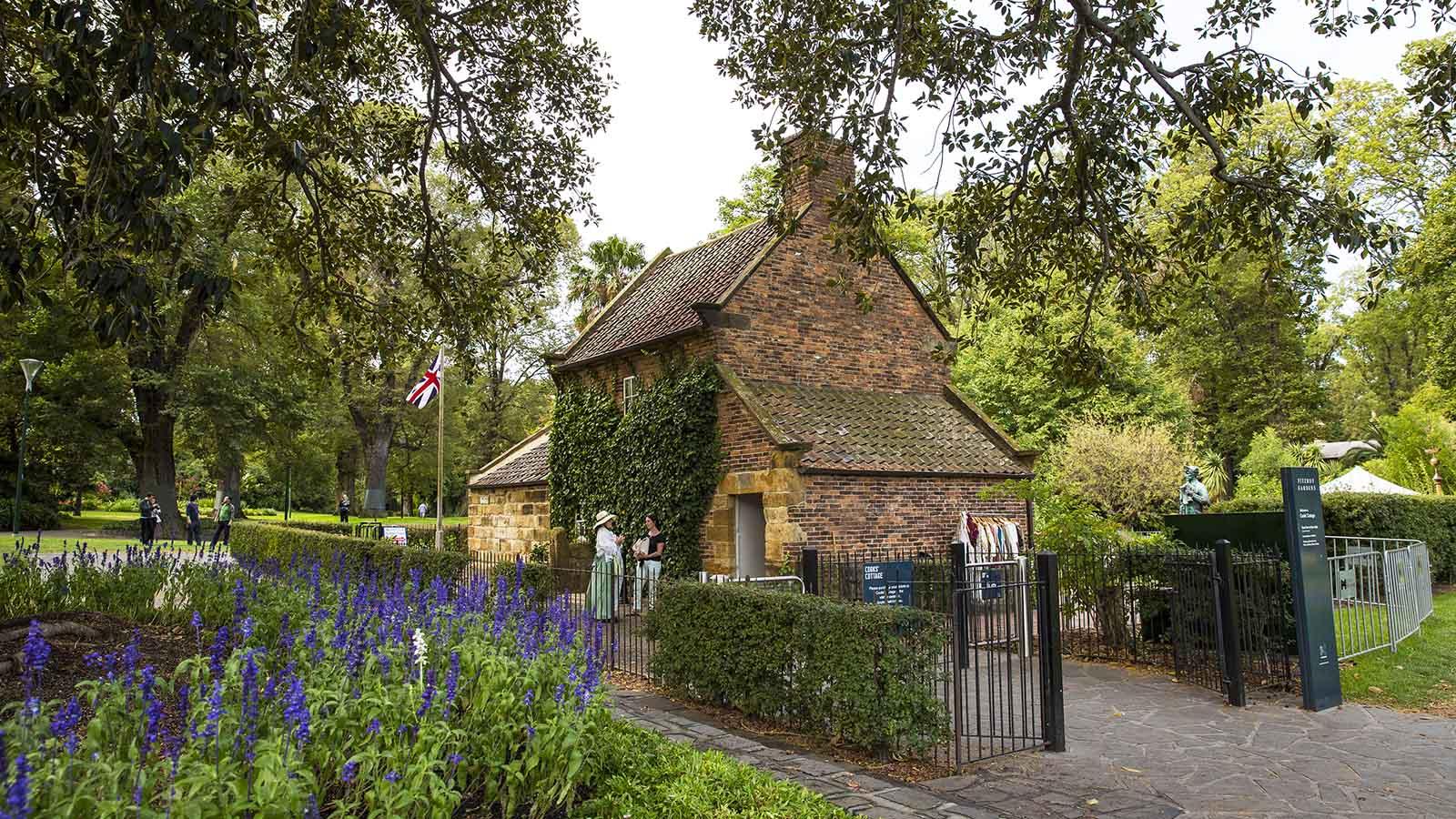 Cooks Cottage at Fitzroy Gardens, Melbourne, Victoria, Australia