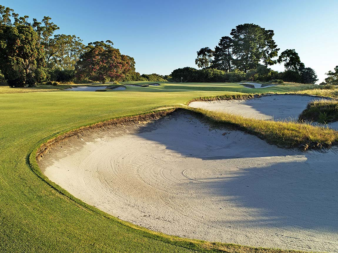 Hole 7 at Kingston Heath Gold Club, Melbourne, Victoria, Australia