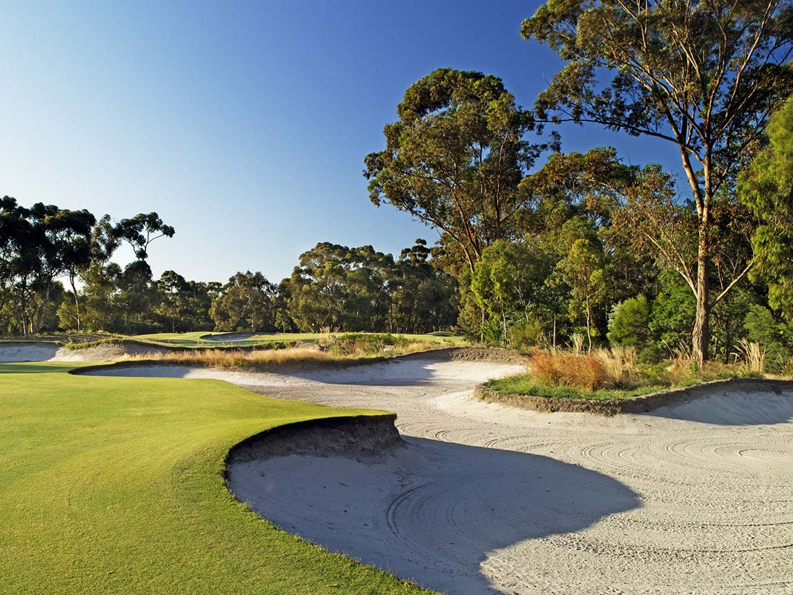 Bunker at Victoria Golf Course, Melbourne, Victoria, Australia