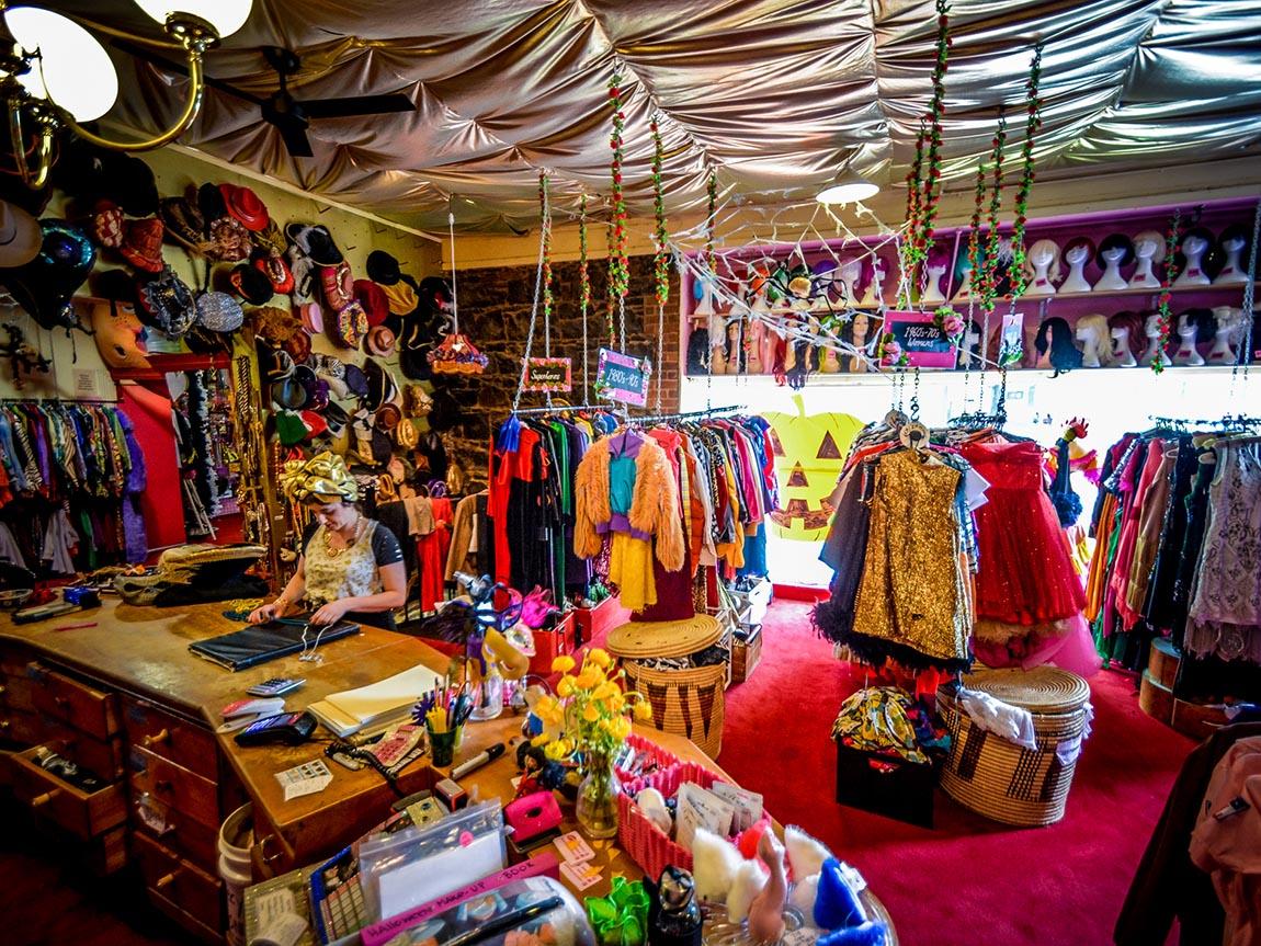 Rose Chong's Costuem Shop, Melbourne, Victoria, Australia. Credit: Eamon Donnelly