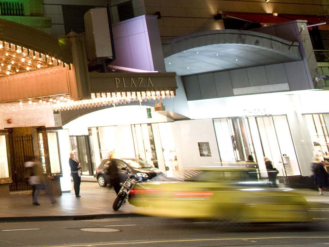 Taxi in Collins Street, Melbourne, Victoria, Australia