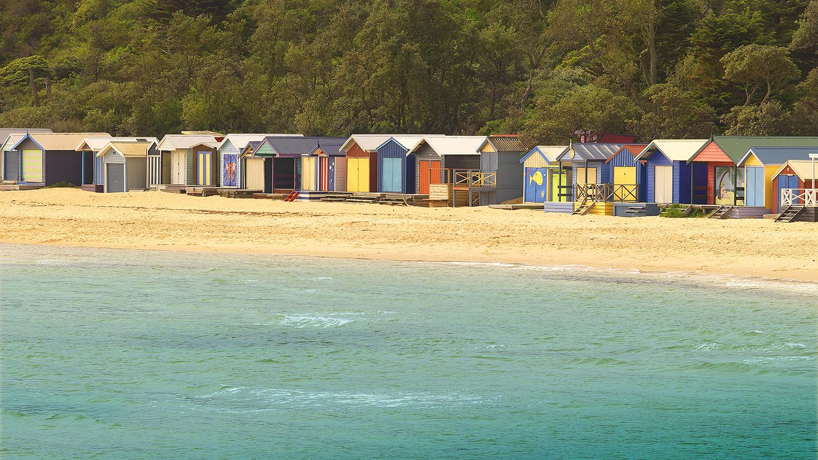 Bathing boxes, Mornington Peninsula, Victoria, Australia
