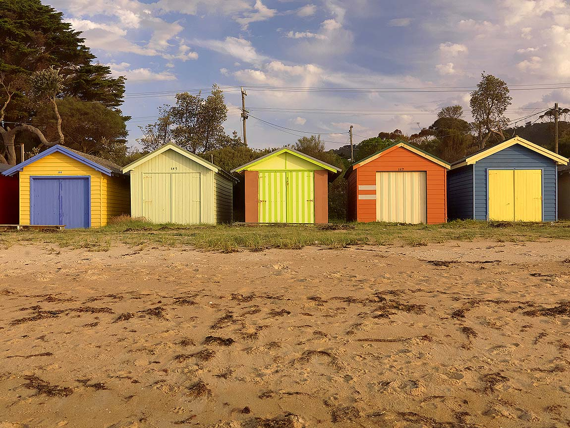 Beach Boxes, Dromana, Mornington Peninsula, Victoria, Australia