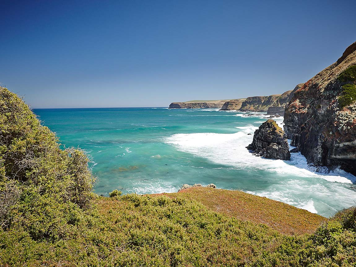 View from Flinders Blowhole Track, Mornington Peninsula, Victoria, Australia