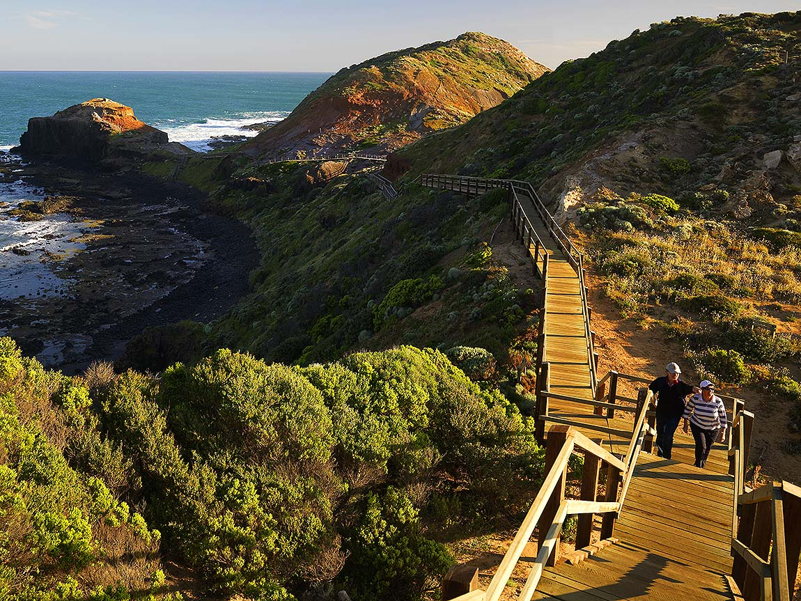 Cape Schanck Boardwalk, Mornington Peninsula, Victoria, Australia