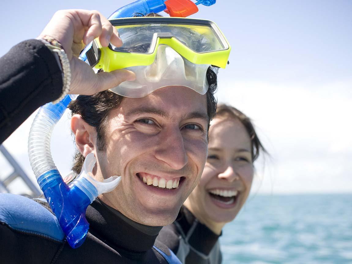 Snorkeling with Moonraker Dolphin Swims, Mornington Peninsula, Victoria, Australia