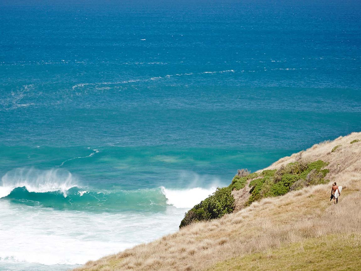 Surfer at Bushranger Bay, Mornington Peninsula, Victoria, Australia