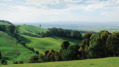 Hills to the Sea, Gippsland, Victoria, Australia