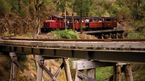 Walhalla Goldfields Rail Trail, Gippsland, Victoria, Australia