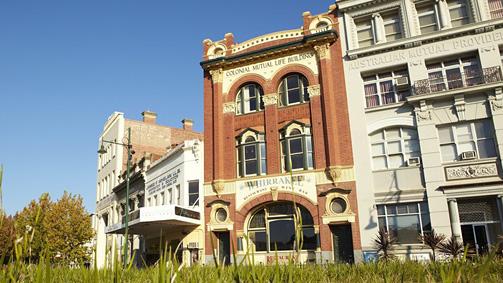 Bendigo streetscape, Goldfields, Victoria, Australia
